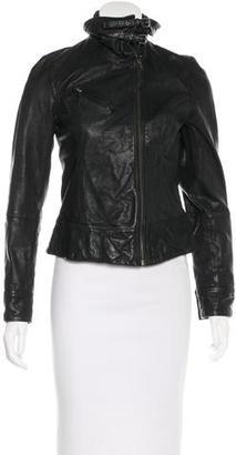 AllSaints Leather Biker Jacket $230 thestylecure.com