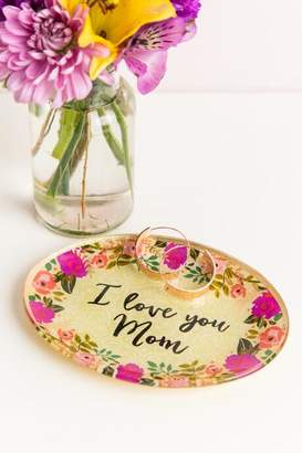 Natural Life I Love You Mom Glass Trinket Tray