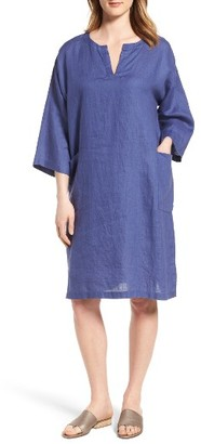 Women's Eileen Fisher Organic Linen Shift Dress $248 thestylecure.com