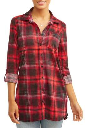 Laundry by Shelli Segal New York Women's Long Sleeve Button Down Tunic