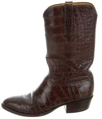 Stallion Boot & Belt Company Crocodile Cowboy Boots