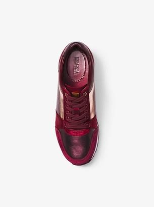 MICHAEL Michael Kors Billie Metallic Leather and Satin Sneaker