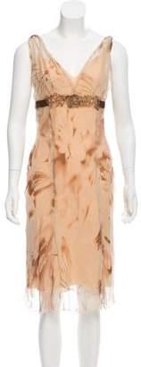 Alberta Ferretti Patterned Sleeveless Dress