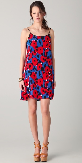 Dkny Agnes Floral Slip Dress