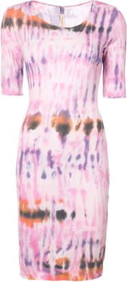 Raquel Allegra tie-dye print dress