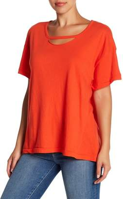 Wildfox Couture Rivo Cutout Short Sleeve Tee