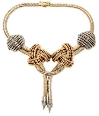 Etro Twisted Gold Tone Necklace - Womens - Gold