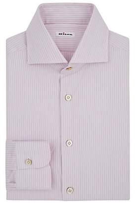 Kiton Men's Pinstriped Cotton Dress Shirt - Pink