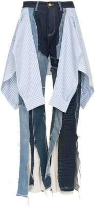 Ronald Van Der Kemp patchwork denim jeans