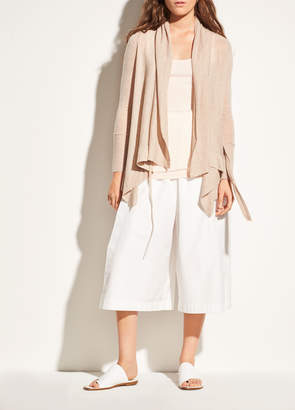Vince Drape Front Wool and Cashmere Cardigan