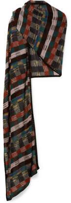 Missoni Metallic Crochet-knit Scarf - Black