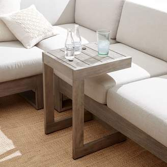 west elm Portside Outdoor C-Shaped Side Table - Weathered Gray