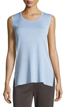 Misook Scoop-Neck Long Knit Tank, Plus Size