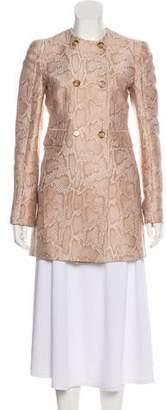 Stella McCartney Animal Print Button-Up Jacket