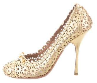 Alaia Metallic Lasercut Pumps