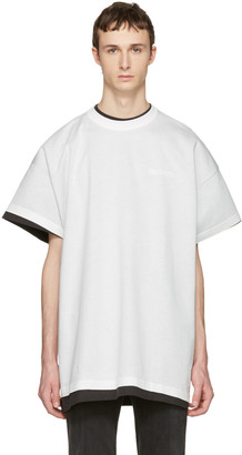 Vetements White Hanes Edition Oversized Double 'Securite' T-Shirt $690 thestylecure.com
