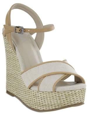 Mia Dossie Linen Platform Wedge Sandal