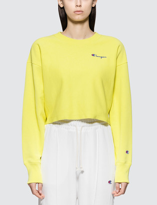 Champion Reverse Weave Small Script Logo Cropped Sweatshirt