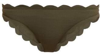 Marysia Swim Antibes Scallop Edged Bikini Briefs - Womens - Khaki
