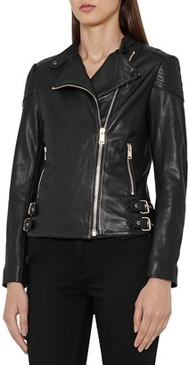 REISS Shelby Leather Biker Jacket $745 thestylecure.com