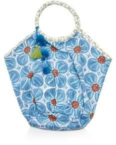 John Robshaw Lita Floral Print Beach Bag