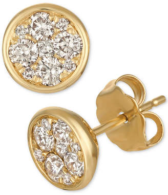 LeVian Le Vian Strawberry & Nude Diamond Cluster Stud Earrings (1/2 ct. t.w.)