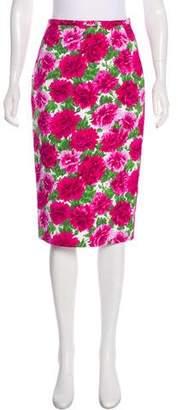 Michael Kors Floral Pencil Skirt