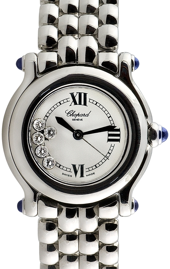 Chopard Happy Sport Stainless Steel & Diamond Watch, 26mm