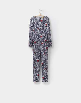 Joules French Navy Ria Ditsy Carly Mock Layer Jumpsuit 32yr