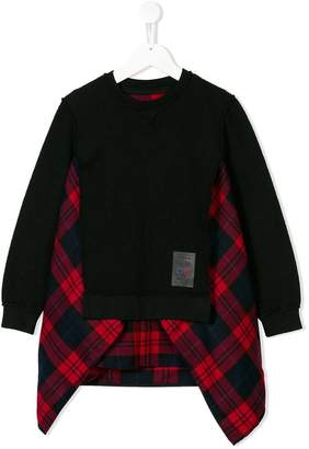 DSQUARED2 tartan panel sweatshirt