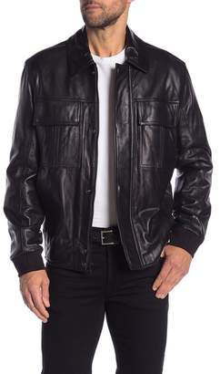 Andrew Marc Genuine Leather Two Pocket Jacket