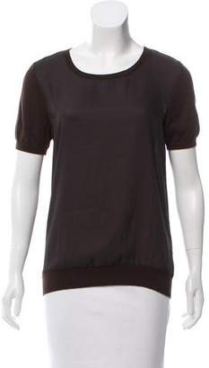MICHAEL Michael Kors Contrasted Short Sleeve Top w/ Tags