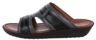 Tod's Ferrari x Leather-Trimmed Sandals