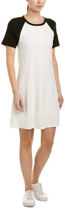 James Perse Baseball Linen-Blend Shift Dress