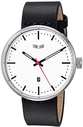 Vestal ' Roosevelt Italian Leather' Quartz Stainless Steel Dress Watch