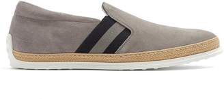 Tod's Pantofola suede slip-on trainers