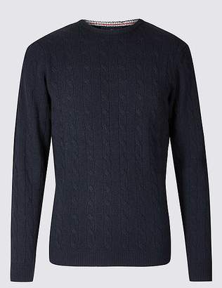 Marks and Spencer Merino Cable Knit Jumper with Yak