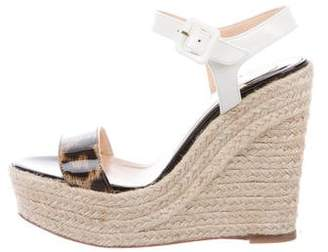 Christian Louboutin Spachica 120 Espadrille Wedges