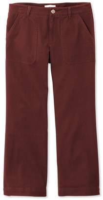 L.L. Bean L.L.Bean Signature Wide-Leg Cropped Pants