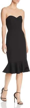 BCBGMAXAZRIA Strapless Crepe Dress