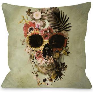 One Bella Casa Garden Skull Light Decorative Pillow