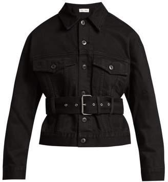 Proenza Schouler Pswl - Belted Cotton Denim Jacket - Womens - Black