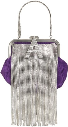 ATTICO The MINI MOIRE DOCTOR BAG W/CRYSTAL FRINGE