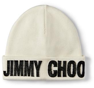 Jimmy Choo FRAN Latte Blended Wool Knit Hat