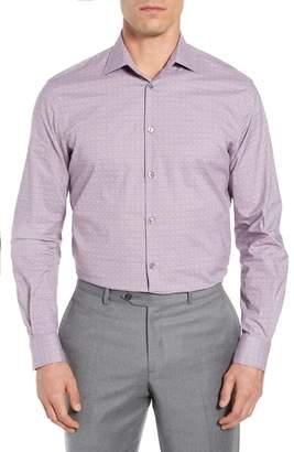 John Varvatos Regular Fit Stretch Check Dress Shirt