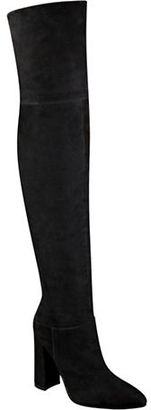 Marc Fisher Ltd Breley Suede Over-the-Knee Boots $349 thestylecure.com