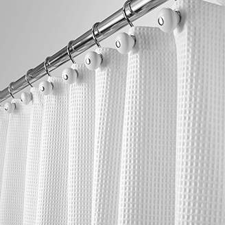 +Hotel by K-bros&Co mDesign Long Hotel Quality Polyester/Cotton Blend Fabric Shower Curtain with Waffle Weave and Rustproof Metal Grommets for Bathroom Showers and Bathtubs