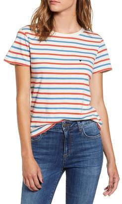 Sub Urban Riot Sub_Urban Riot Vanessa Heart Embroidered Vincent Stripe Tee
