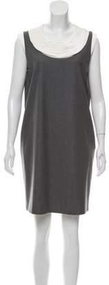 Fendi Wool Shift Dress Grey Wool Shift Dress