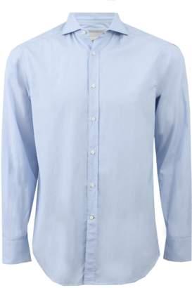 Brunello Cucinelli Micro Check Spread Collar Shirt